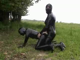 Fetish Latex Couple Have A Nice Fuck Outdoor Free Porn A6