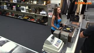 Lady Convinced To Fuck At The Pawnshop
