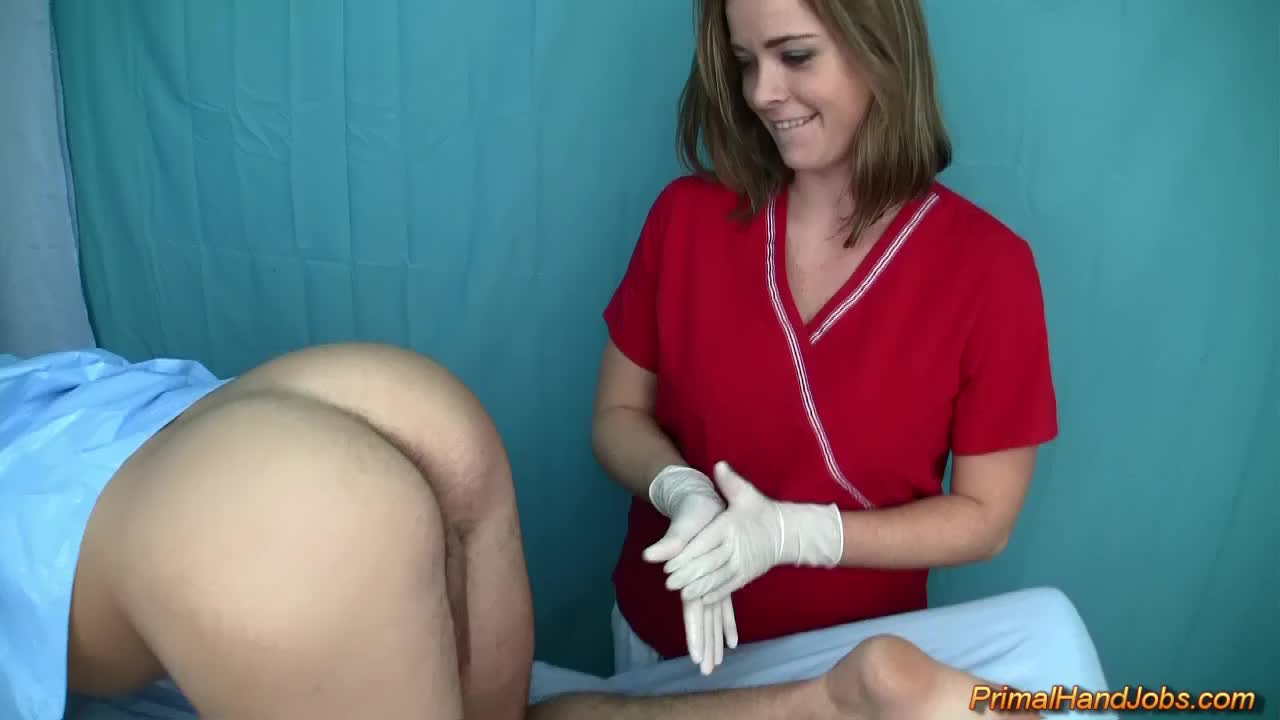 Nurse Handjob Latex Gloves