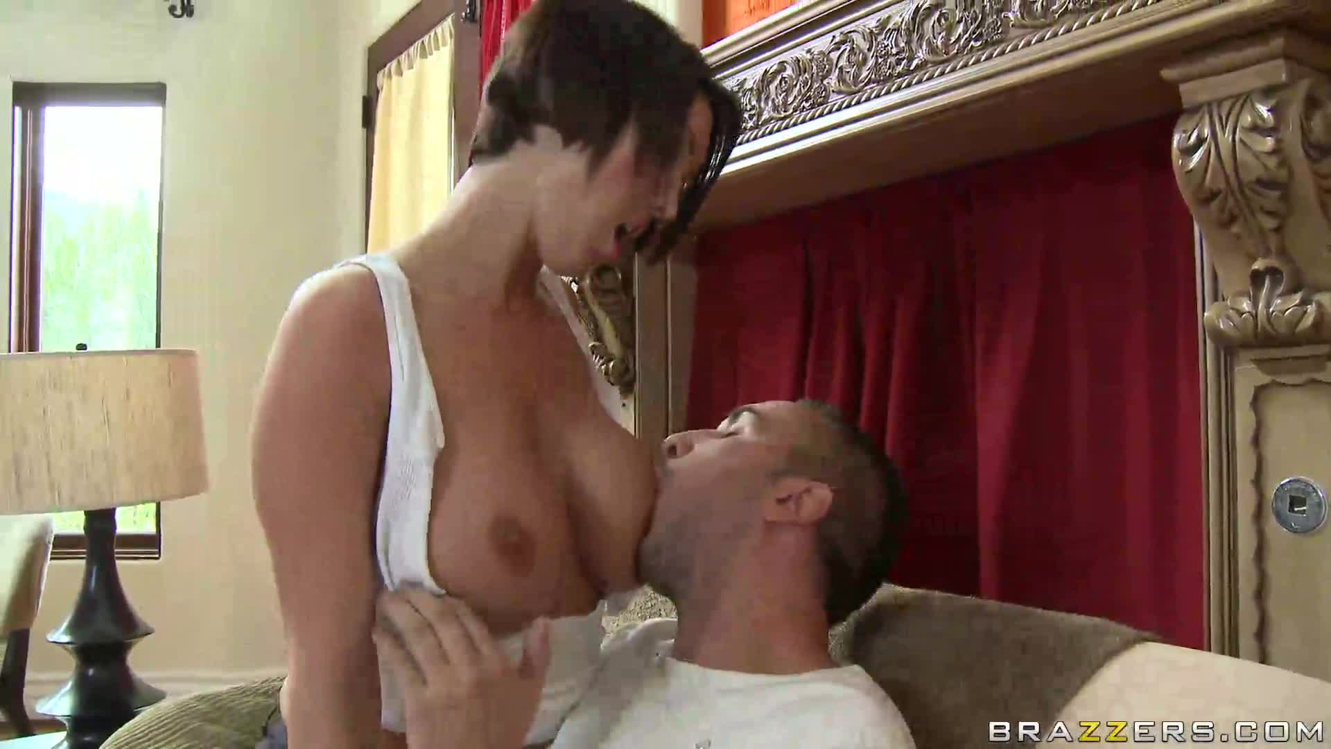 Blonde Big Tits Riding Dildo
