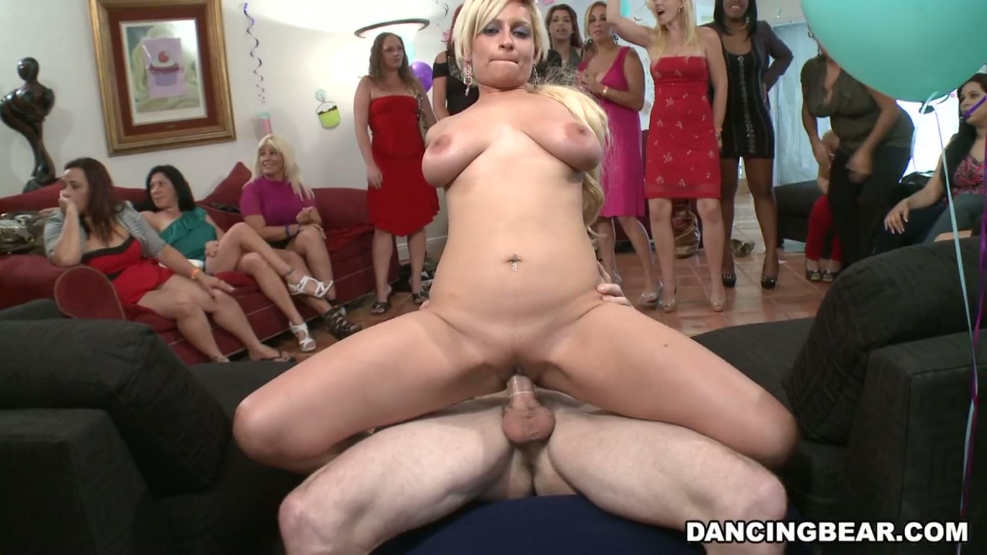 Girl fucked while friends watch