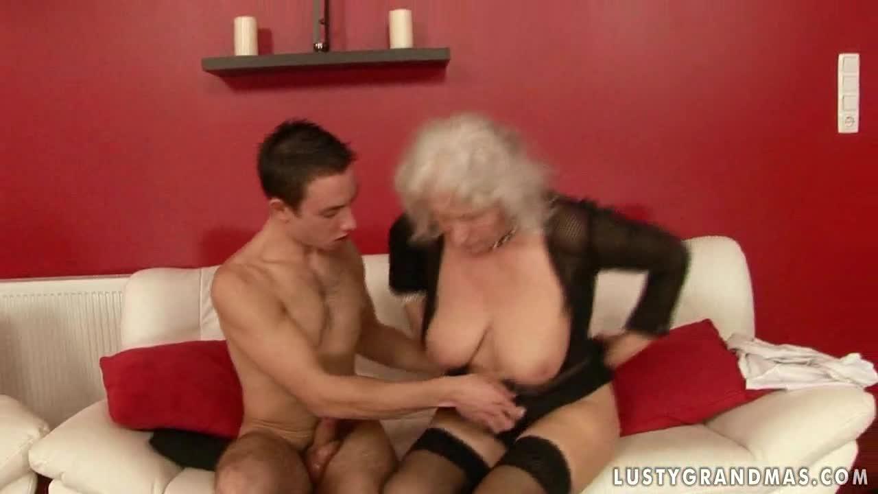 big breast granny