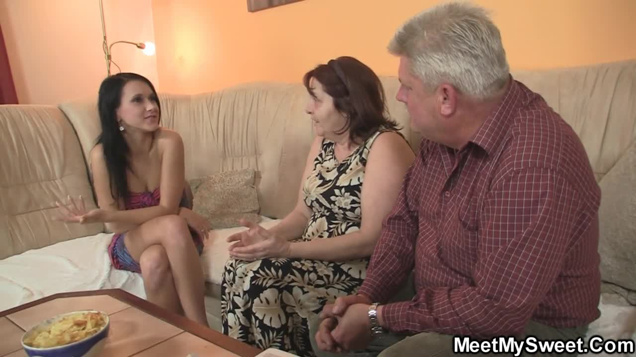 Mature Couple Fucks Teen
