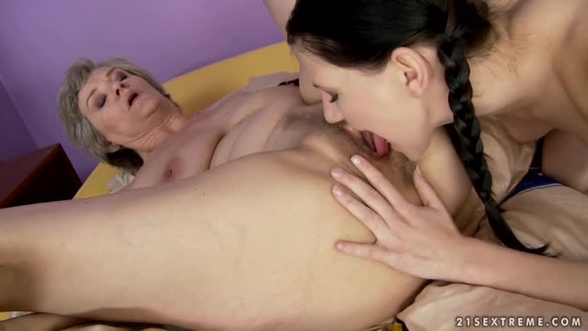 Grandma Licks Teen Pussy