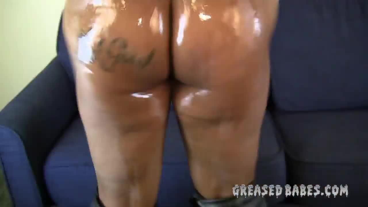 Ebony Backshots Tattooed Ass