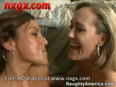Two horny mommies pleasure their young visitor